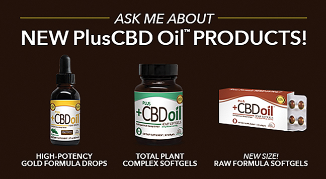Nutrition Center USE NEW Plus CBD Oil Products - SOKY Happenings
